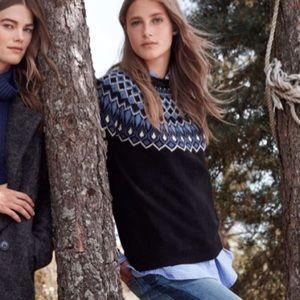 H&M warm jacquard knit sweater